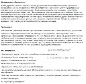 Вальщик леса работа Сила Сибири, работа вахтой по РФ
