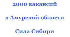 в 2016 году 2011 вакансий Амурская область Сила Сибири