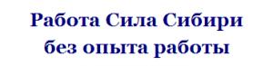 #СилаСибири работа без опыта
