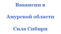 вакансии в амурской области Алтай и Сила Сибири